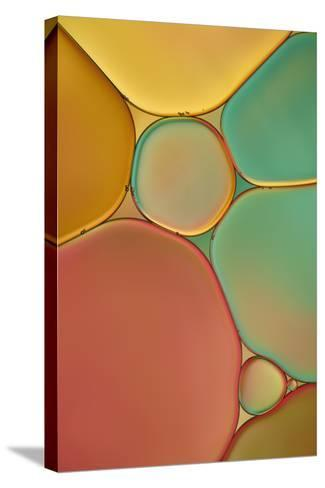 Red Yellow and Green Drops-Cora Niele-Stretched Canvas Print