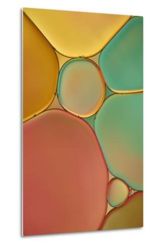 Red Yellow and Green Drops-Cora Niele-Metal Print