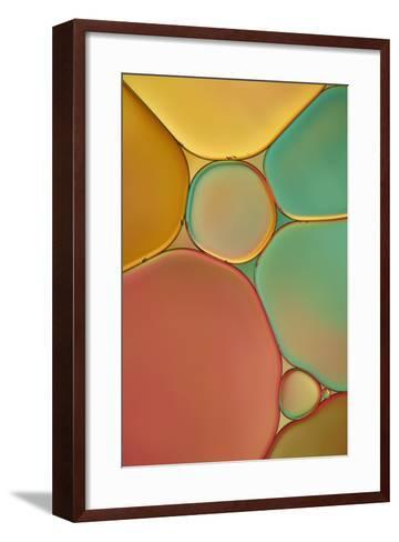 Red Yellow and Green Drops-Cora Niele-Framed Art Print