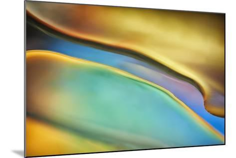 Yellow and Aqua Blue Flow-Cora Niele-Mounted Photographic Print