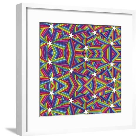 Stars A-Howie Green-Framed Art Print