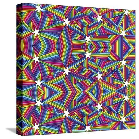 Stars A-Howie Green-Stretched Canvas Print