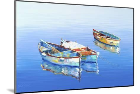 3 Boats Blue 1-Edward Park-Mounted Giclee Print