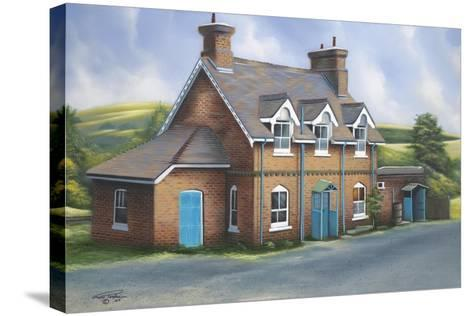 Old Burghclere Station-Geno Peoples-Stretched Canvas Print