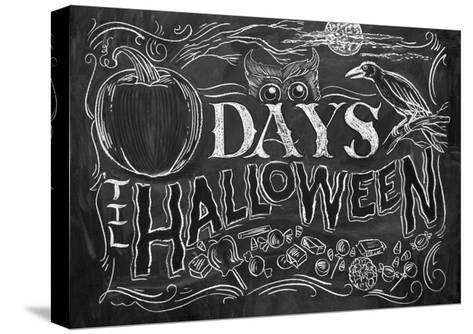 Days 'til Halloween-CJ Hughes-Stretched Canvas Print