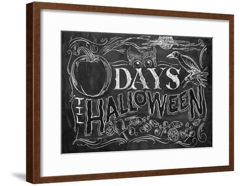 Days 'til Halloween-CJ Hughes-Framed Art Print