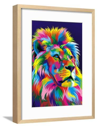 Lion New-Bob Weer-Framed Art Print