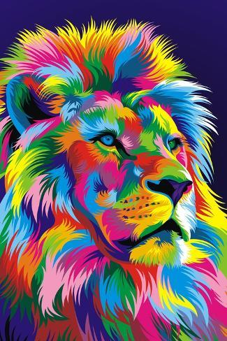 Lion New-Bob Weer-Stretched Canvas Print