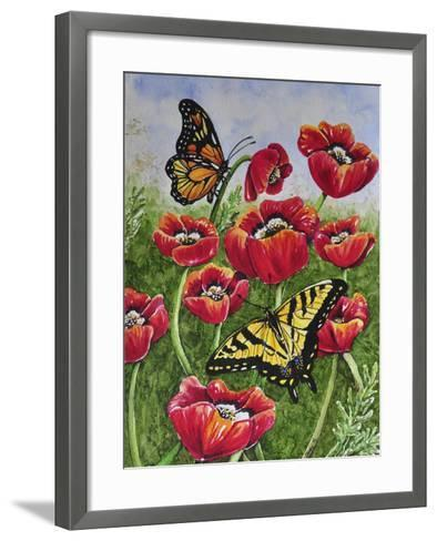 Monarch and Swallowtail-Charlsie Kelly-Framed Art Print