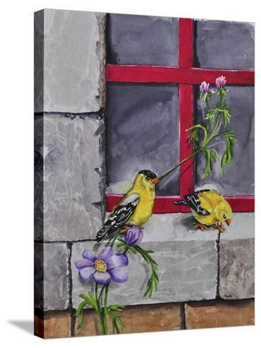 Gold Finches-Charlsie Kelly-Stretched Canvas Print