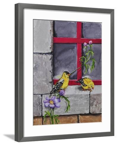 Gold Finches-Charlsie Kelly-Framed Art Print