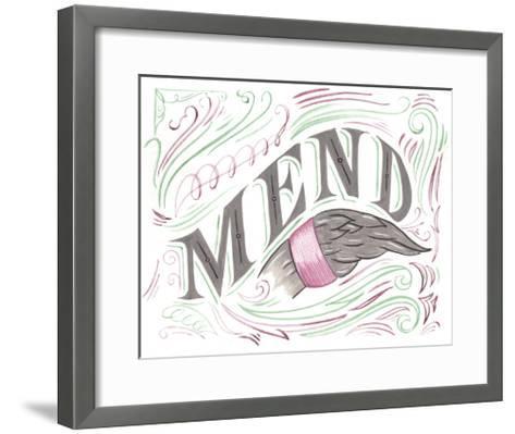 Mend-CJ Hughes-Framed Art Print