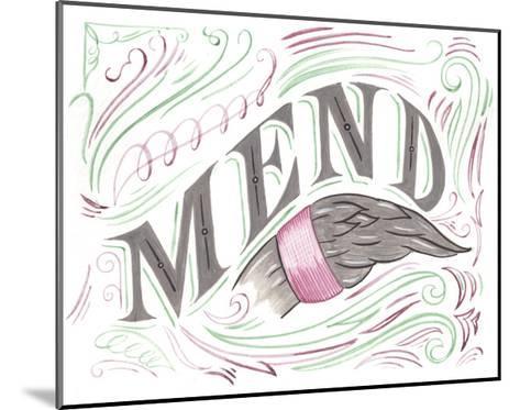 Mend-CJ Hughes-Mounted Giclee Print