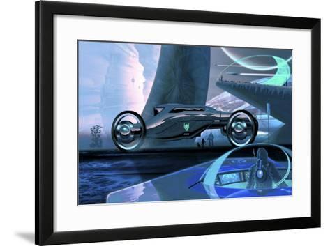Megafuture Cybertram Coach XXVI-Fernando Palma-Framed Art Print
