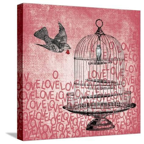 Love Birds-Erin Clark-Stretched Canvas Print