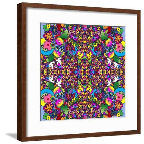 Flowers Kalidescope-Howie Green-Framed Art Print