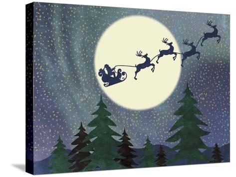Santa Moon-Erin Clark-Stretched Canvas Print