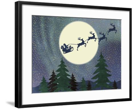 Santa Moon-Erin Clark-Framed Art Print