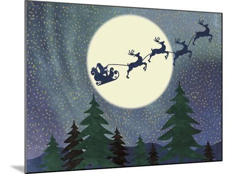 Santa Moon-Erin Clark-Mounted Giclee Print