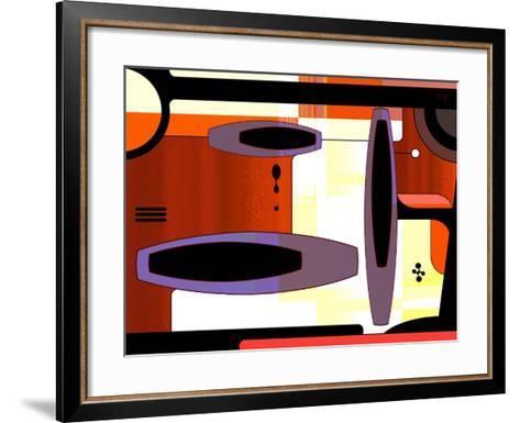 Retro Nouveau Background XLIV-Fernando Palma-Framed Art Print
