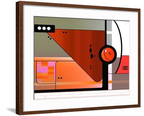 Retro Nouveau Background XLII-Fernando Palma-Framed Art Print