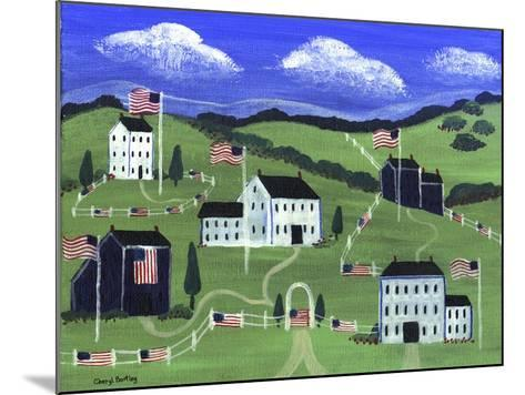 American Village-Cheryl Bartley-Mounted Giclee Print