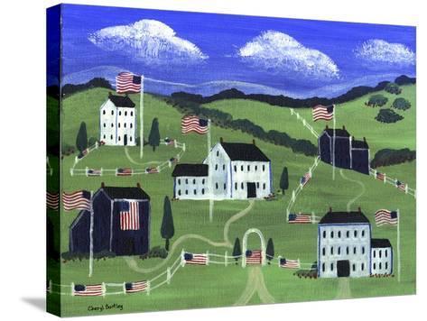 American Village-Cheryl Bartley-Stretched Canvas Print