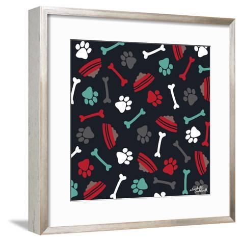 Dog Bowls and Bones-Elizabeth Caldwell-Framed Art Print