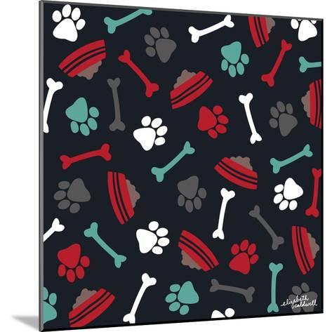 Dog Bowls and Bones-Elizabeth Caldwell-Mounted Giclee Print