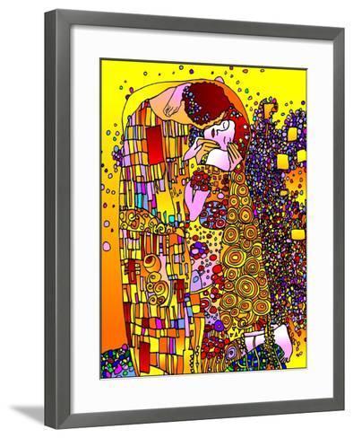 The Kiss-Howie Green-Framed Art Print