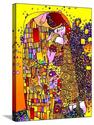 The Kiss-Howie Green-Stretched Canvas Print