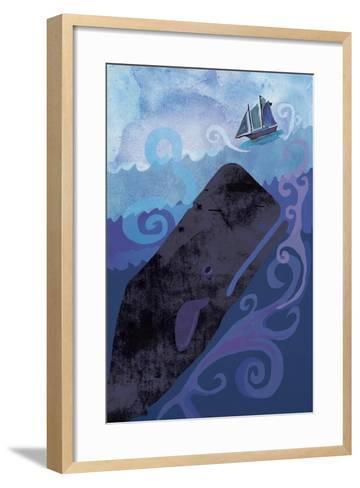 Clark Whale and Ship 5-Erin Clark-Framed Art Print