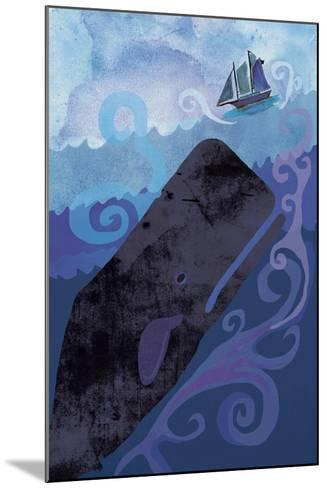 Clark Whale and Ship 5-Erin Clark-Mounted Giclee Print