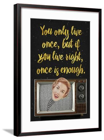 You Only Live Once-Elo Marc-Framed Art Print