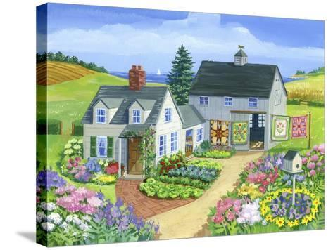 Quilt Barn-Geraldine Aikman-Stretched Canvas Print