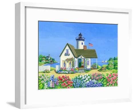 Lighthouse Cottage-Geraldine Aikman-Framed Art Print