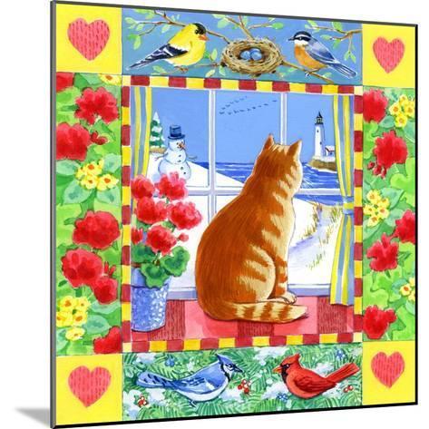 Cat Winter View-Geraldine Aikman-Mounted Giclee Print