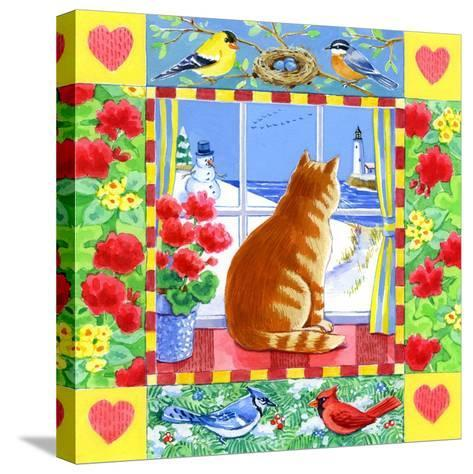 Cat Winter View-Geraldine Aikman-Stretched Canvas Print