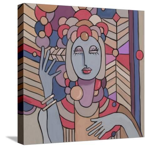 Pop Deco Lady 512-Howie Green-Stretched Canvas Print