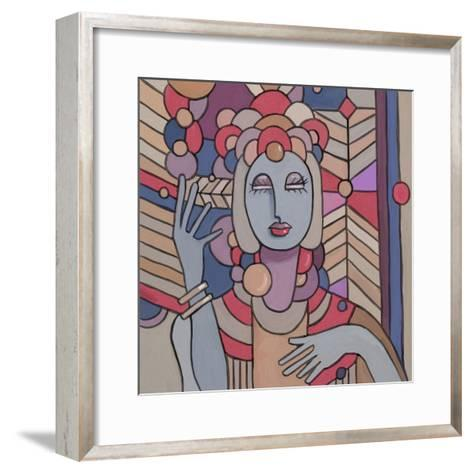 Pop Deco Lady 512-Howie Green-Framed Art Print