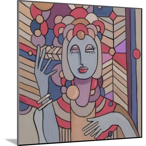 Pop Deco Lady 512-Howie Green-Mounted Giclee Print