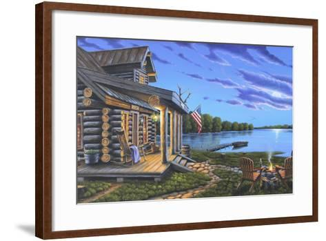 Lakeside Retreat-Geno Peoples-Framed Art Print