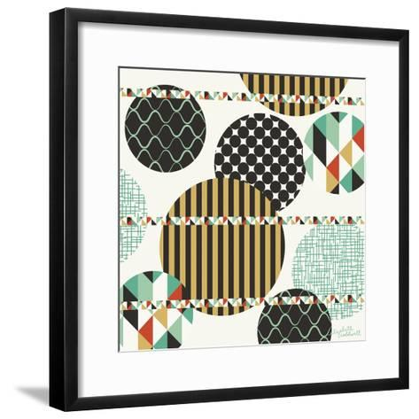 Geo Patterned Dots-Elizabeth Caldwell-Framed Art Print