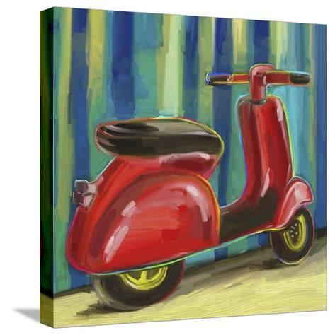 Pop Scooter-Howie Green-Stretched Canvas Print