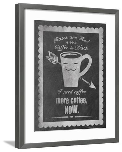 Roses Coffee-Erin Clark-Framed Art Print