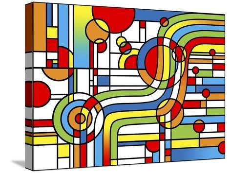Pop Art Stripes Curve-Howie Green-Stretched Canvas Print