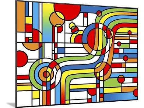 Pop Art Stripes Curve-Howie Green-Mounted Giclee Print