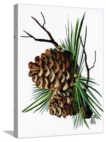 pine cone copy brochure-Debbi Wetzel-Stretched Canvas Print