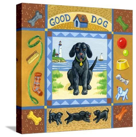 Good Dog Black Lab-Geraldine Aikman-Stretched Canvas Print