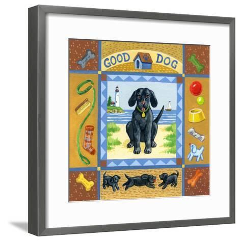 Good Dog Black Lab-Geraldine Aikman-Framed Art Print